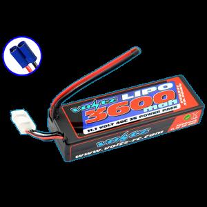 Voltz 3600mah Hard Case 11.1v 40c Lipo Stick-low Pro 2S Size