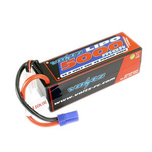 Voltz 5000mah Hard Case 14.8v 50c Lipo Stick Pack EC5