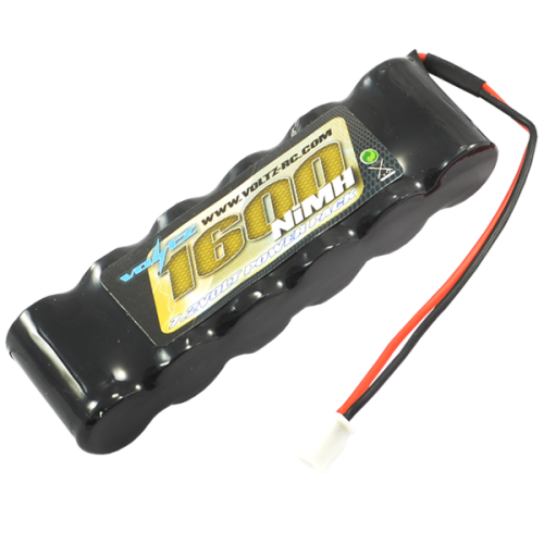 1600mAh 7.2v NiMH Straight Pack Battery 6 Cell w/micro Connector