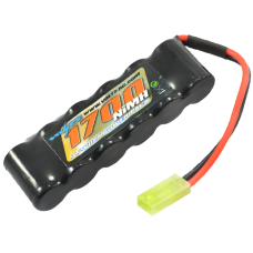 VOLTZ 1700mAh 7.2V NiMH STRAIGHT PACK BATTERY 6 CELL W/MINI TAMIYA CONNECTOR
