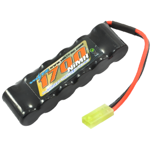 1700mAh 7.2v NiMH Straight Pack Battery 6 Cell w/mini Tamiya Connector