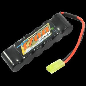 1700mah 7.2v NiMH Straight Pack Battery 6 Cell w/mini Tamiya Connector