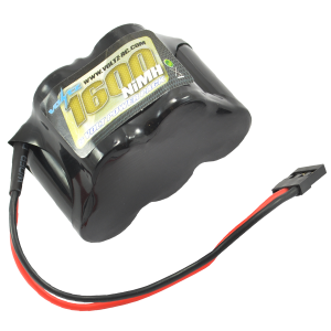 1600mah 6.0v NiMH Receiver Pack Hump Battery (JR Plug)
