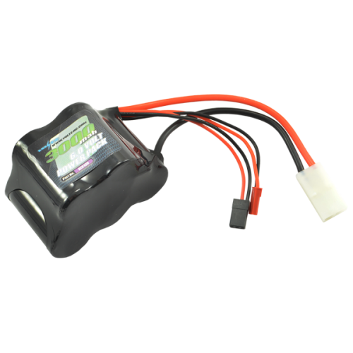 3000mAh 6.0v NiMH Receiver sub-c Pack Hump Battery w/bec/JR Plug