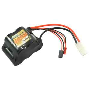 4600mAh 6.0v NiMH Receiver sub-c Pack Hump Battery w/bec/JR Plug 1/5th