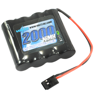 2000mAh 4.8v NiMH RX Straight Battery w/Connector