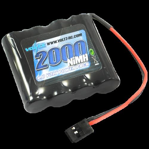 2000mAh 4.8v NiMH RX Straight Battery w/Connector