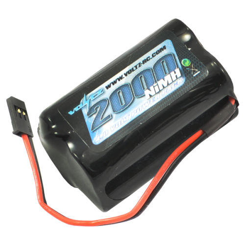2000mAh 4.8v NiMH RX Square Battery w/Connector
