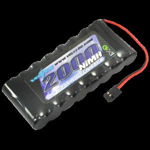 2000mah 9.6v TX Flat Battery w/Connector