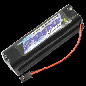 2000mah 9.6v TX Square Battery w/Futaba Connector