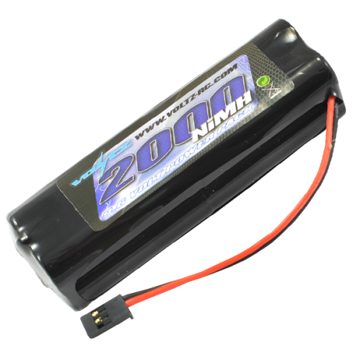 2000mAh 9.6v TX Square Battery with Futaba Connector