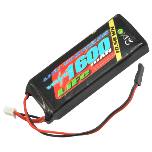 1600mAh 2s 6.6v RX LiFe Straight Battery Pack