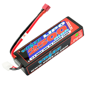 2500mAh 2s 7.4v 40C Hardcase LiPo Stick Pack Battery