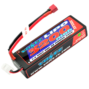 3200mAh 2s 7.4v 40C Hardcase LiPo Stick Pack Battery