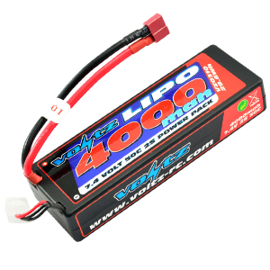 4000mAh 7.4v 50C Hardcase LiPo Stick Pack Battery