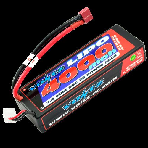 4000mAh 7.4v 50C Hardcase LiPo Stick Pack Battery