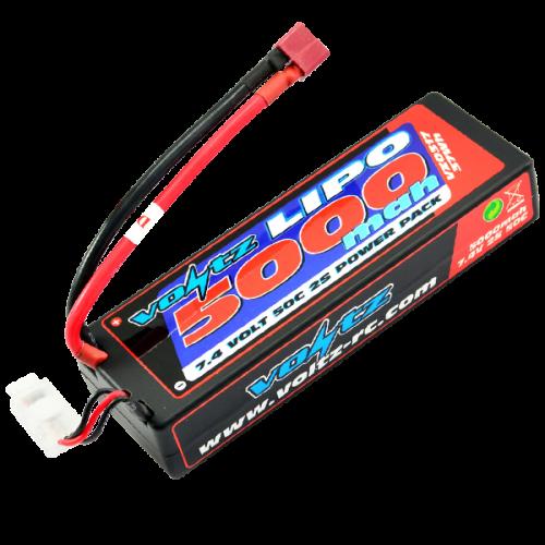 5000mAh 2s 7.4v 50C Hardcase Stick Battery Pack