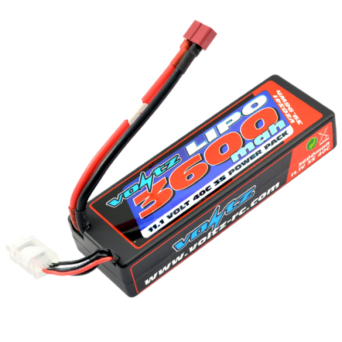 3600mAh 2s 11.1v 40C Hardcase LiPo low profile Stick Pack Battery