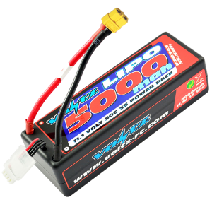 5000mAh 3s 11.1v 50C Hardcase LiPo Battery w/ XT60 Connector