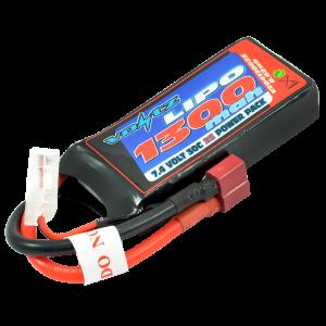 1300mAh 2s 7.4v 30C LiPo  Battery