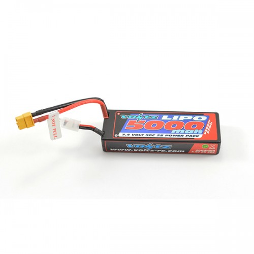 5000mAh 2s 7.4v 50C Hardcase LiPo Stick Pack Battery with XT60 Connector