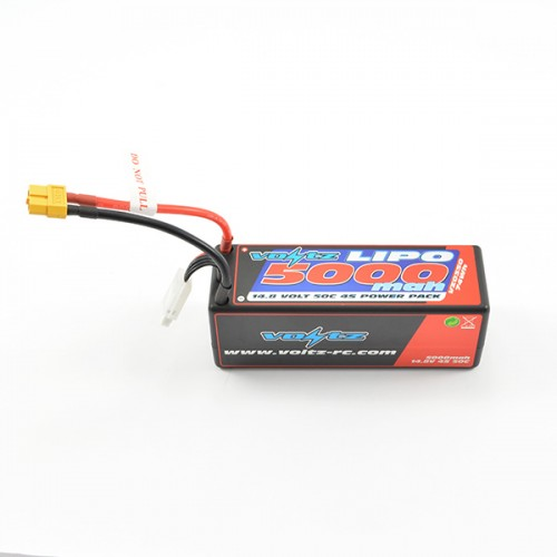 5000mAh 4s 14.8v 50C Hardcase LiPo Battery with XT60 Connector